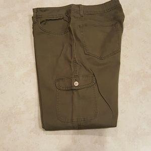Faded Glory cargo pants 16 skinny olive